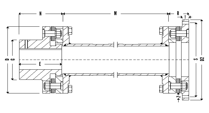 Flexilink Coupling Type 13 Diagram